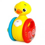 Kiditos Rolling Electric Roly-Poly Duck with Funny Laughing Sound Baby Rattles Music Toys Baby Toys 0-12 Months