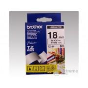 Bandă Brother 18 mm alb/negru