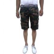 Timbre Men Army Print Camouflage Cargo Shorts with 9 Pockets Camouflage Shorts for Men Boys With Free Waist Belt