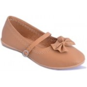 Myra Ethnic Bow Bellies For Women(Tan)