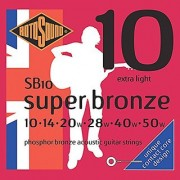 Rotosound SB10 Super Bronze Acoustic Guitar Strings (10 14 20 28 40 50)