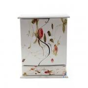 Caseta bijuterii cu usi curbate si model floral