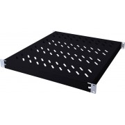 """Raft fix pentru dulap server 19"""" cu adancime de 800 mm, 1U, (I x l) 44 x 482 mm, negru (RAL 9005), Digitus DN-97647"""