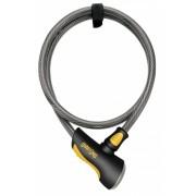 Onguard kabelslot Akita 185 cm x 12 mm grijs/zwart