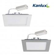 Katro négyzet LED panel (13-18 W / 3000K-4000K / IP44) fehér és ezüst kerettel