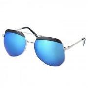 Moda Proteccion UV400 resina lente gafas de sol para PC - azul + plata