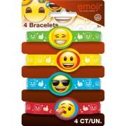 Vegaoo Emoji-armband i gummi One-size