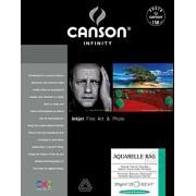 Canson Infinity Aquarelle Rag Fine Art Paper Papel Decorativo, Caja de 25 Hojas 310g, 0, 21.6 x 27.9 cm, 1
