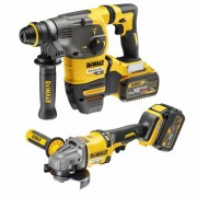 DeWalt PACK FLEXVOLT: MARTILLO SDS PLUS + AMOLADORA