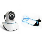 Zemini Wifi CCTV Camera and Jogger Bluetooth Headset for SAMSUNG GALAXY S 6 EDGE(Wifi CCTV Camera with night vision |Jogger Bluetooth Headset With Mic )