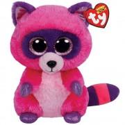 TY Peluche Raccoon with Glitter eyes Roxie 24cm