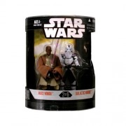 "STAR WARS "" ORDER 66 "" MACE WINDU & GALACTIC MARINE TARGET EXCLUSIVE MIB"