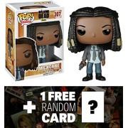 Michonne (Season 5): Funko Pop! X Walking Dead Vinyl Figure + 1 Free Official Walking Dead Trading Card Bundle [65133]