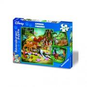 Puzzle Bambi, Baloo si Simba, 3x49 piese, RAVENSBURGER