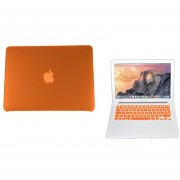 Case Carcasa + Protector De Teclado Para Macbook Pro 15'' Model (A1286) -Naranja