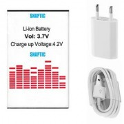 Snaptic Li Ion Polymer Replacement Battery for Intex Aqua Y2 IPS with USB Travel Charger
