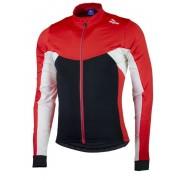 melegítő kerékpáros mez Rogelli Recco 2.0 hosszú ujj, fekete-piros 001.140.