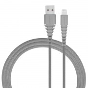 MOMAX MFI 1.2M Woven 2.4A Lightning 8pin USB Data Sync Charger Cable for iPhone iPad iPod - Grey