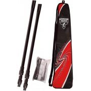 Siatka do badmintona + słupki (rekreacyjne)