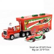 Set of 2 Simulation Toy Car Models Francesco of Animated Movie Car Model
