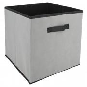 Linnea Cube de rangement cartonnée 27L gris