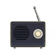 IMIKEYA Altavoces Estéreo Inalámbricos de poca Altavoces Retro Portátiles con Sonido Potente Altavoz Exterior Altavoz Inalámbrico Retro para La Oficina de La Tienda en El Hogar Al Aire Libre (Azul Oscuro)