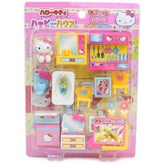 "Hello Kitty Miniature Toy ""My House"" Garden Living Room Bathroom Bedroom"