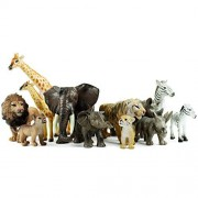 Boley 12 Piece Safari Animal Set - with Different Varieties of Zoo Toys, Jungle African Toys and Baby Animals Great Educational Toy Child Development