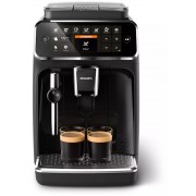 Espressor complet automat Philips EP4321/50, 5 băuturi, 15 bar, 1.8 L, 12 setări de măcinare, Sistem clasic de spumare a laptelui, Display TFT, Filtru AquaClean, Aroma Seal, Negru lucios
