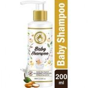 Mom World Tear Free Baby Shampoo 200ml - With Organic Moroccan Argan Oil Oats Extract - No SLS / Paraben