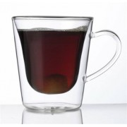 Kávés-teás bögre, duplafalú üveg, 29,5cl, 2db-os szett, Thermo (KHPU114)