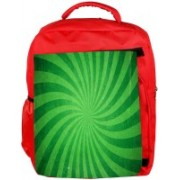 Snoogg Eco Friendly Canvas Abstract Green Design Designer Backpack Rucksack School Travel Unisex Casual Canvas Bag Bookbag Satchel 5 L Backpack(Red)