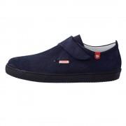 Pantofi copii, din piele naturala, marca Hobby bimbo, 9-7, albastru
