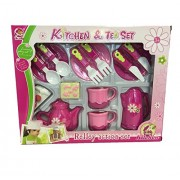 Fun Toys 10680 Kitchen Set with Plates, Small Oven Cook Top, Accessories for Cooking, Pan Etc