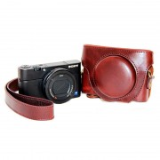 Sony Cyber-shot DSC-RX100 Mark III, Mark IV Camera Case - Coffee