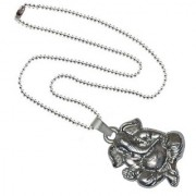 Men Style Loard Shree Ganesh Silver Alloy 00 Pendent For Men And Women