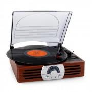 Auna TT-83N Tocadiscos radio FM madera