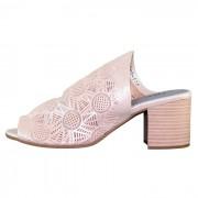 Sandale piele naturala dama – roz, Dogati shoes - toc mediu - 9020-3-375-Roz