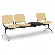 Kovo Praktik Plastové lavice Design, 3-sedák + stolek modrá