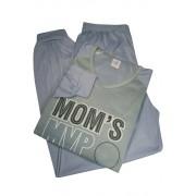 Moms MVP pánské pyžamo - dlouhé nohavice M tmavě šedá