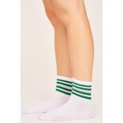 ''Gina Tricot'' ''Evy strumpor'' ''Green stripe (6982)'' 36/38