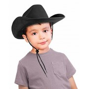 Children's Black Felt Cowboy Hat with Drawstring by Forum Novelties