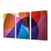 Tablou Canvas Premium Abstract Multicolor Forme Geometrice Suprapuse Decoratiuni Moderne pentru Casa 3 x 70 x 100 cm