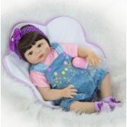 23 Pouces/57 Cm Bébé-Reborn Filles Sexe Plein Corps En Silicone Reborn Baby Dolls Bebe Reborn Enfants Bonecas Juguetes Brinquedos