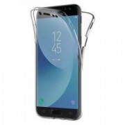 Husa Samsung Galaxy J3 2017 MyStyle FullBody ultra slim TPU fata - spate transparenta