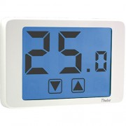 Wall-mounting Touch-screen Thermostat With Battery-supply White Thalos VE432100