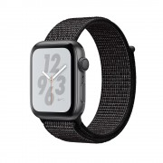 Apple Watch Nike+ Series 4, 44mm Space Gray Aluminum Case with Black Nike Sport Loop, GPS + Cellular - умен часовник от Apple