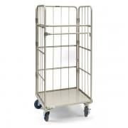 Certeo PRESTAR Rollbehälter, Tragfähigkeit 500 kg - Höhe 1700 mm, Stahlplatte