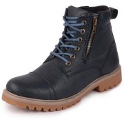 Fausto Men's Ankle PU Outdoor Blue Boots