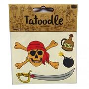 Tatoodle - Temporary Illustrated Artistic Tattoos - Pirates